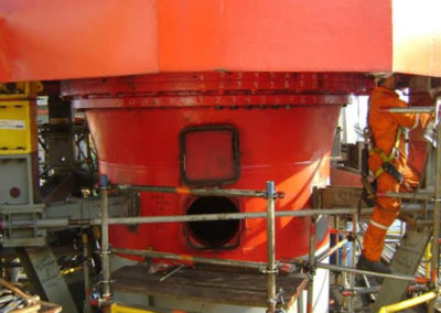 Slew bearing change out services in FPSO